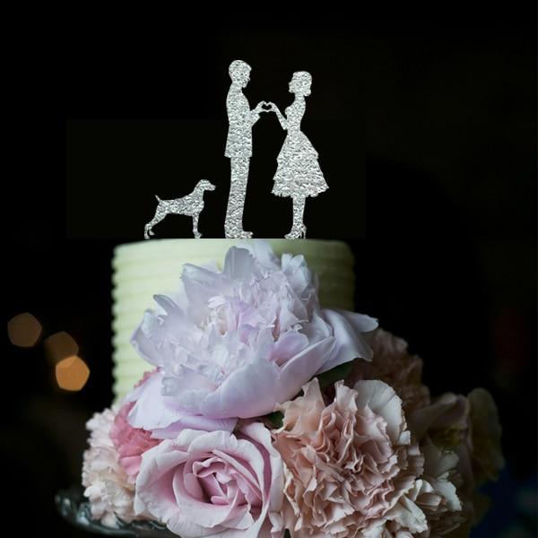 Novia y novio Toppers pastel de bodas Anniversaire de acrílico - Para fiestas y celebraciones
