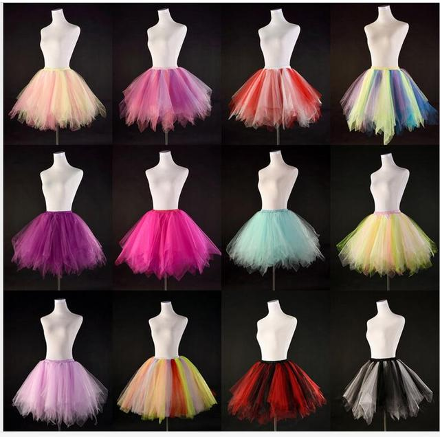 New Women Short Bridal Petticoat Crinoline Underskirt Tutu Dance Skirt Slip