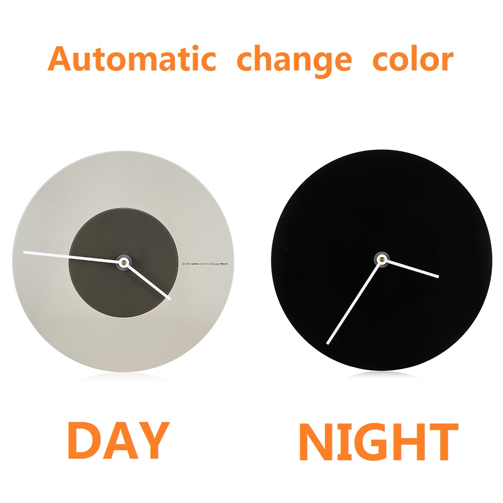 Allocacoc DUSK Silent Wall Clock Decorative For Living Room Bedroom Decor Home Digital Clock Concise Design Clock With Light