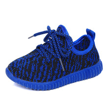 Children casual shoes Boys Girls shoes 2016 autumn breathable sport soft bottom sneakers fashion Kids Mesh Lace-Up shoe