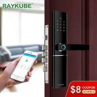 RAYKUBE FPC отпечатков пальцев умный дверной замок умный электронный замок отпечатка с Карта паролей приложение разблокировать R-FK1