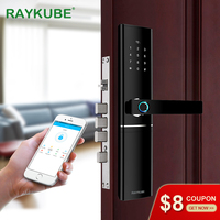 RAYKUBE FPC Fingerprint Smart Door Lock Intelligent Electronic Lock Fingerprint Verification With Password Card APP Unlock R FK1