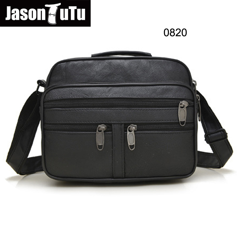Adjustable Men/'s Genuine Leather Handbag Briefcase Shoulder Messenger Bag Small