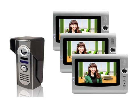 The cheapest and top quality 7 VIDOE DOOR PHONE , home safe intercom system with HD Camera , night vision 1 to 3