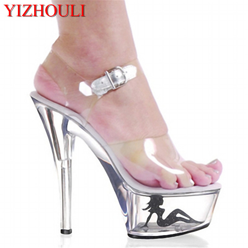Realistic 15 Cm High-heeled Crystal Sandals Nightclub Dance Shoes Pole Dancing Shoes Model High Heels Womens Shoes Regular Tea Drinking Improves Your Health Calendars, Planners & Cards