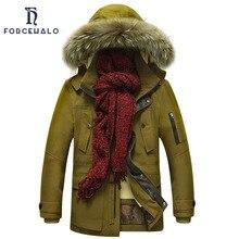 2017 Winter Jacket Men 100% Cotton Parka Men Casual Fur Hooded Fashion Coats Windproof Warm Outwear High Quality