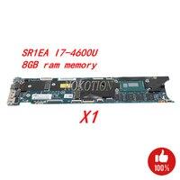 NOKOTION FRU 00HN769 Laptop motherboard for Lenovo Thinkpad X1 Carbon Gen2 Ultrabook SR1EA I7 4600U 8GB memory Main board Works