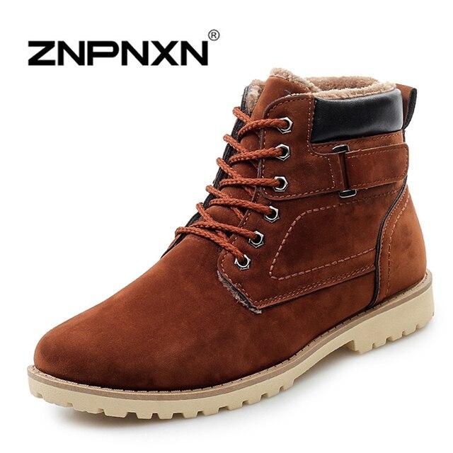 ZNPNXN Hombres Botas de Invierno Caliente Botas de Nieve Caliente Botas de Moda Plataforma Botines Para Hombres Zapatos