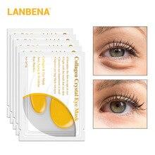 LANBENA 24K Gold Eye Mask Collagen Patches Dark Circle Puffiness Bag Anti-Aging Wrinkle Firming Skin Care 65