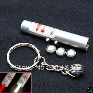5pcs 2in1 Super White LED Light + Red Laser Pointer w Keyring & battery