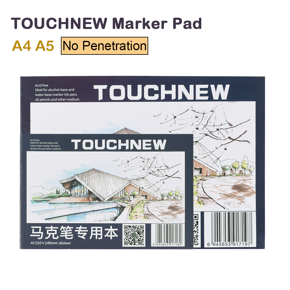 TOUCHNEW A4 A5 Marker Pad 30 Sheets Professional No Penetration Paper Drawing Album Sketchbook For Student Artists Art Supplies
