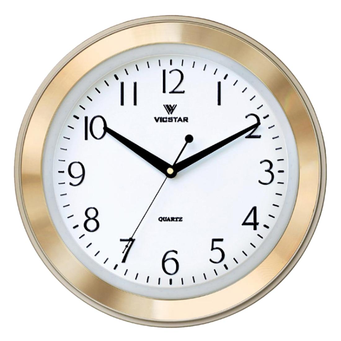33Cm Brief Wall Clock Modern Silent Clocks Aluminum Frame Quartz Slient Clock Wall Clocks Home Decor - Silver Golden