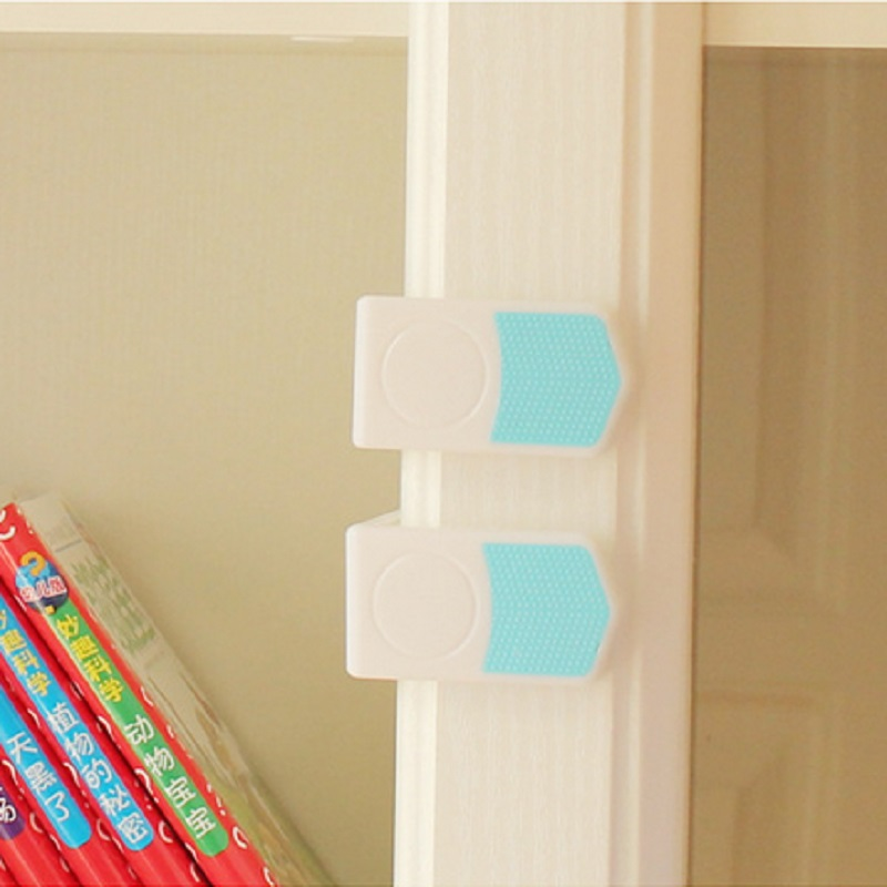 5Pcs New Plastic Baby Safety Locks Cabinet Drawer Cupboard Refrigerator Toilet Door Closet Care For Kids Child Safety Protection