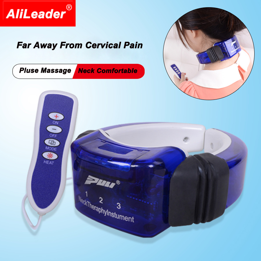 New Model Health Care Massage For Stress Release Low Frequency Electric Pulse Neck Therapy Instrument Cervical Spine Massager 2017 household electric neck support device cervical physical therapy heated vibration cervical spine heating health care