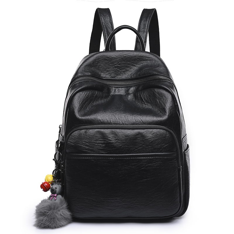 Leisure, Korean, Comfortable, Leather, Casual, Backpack