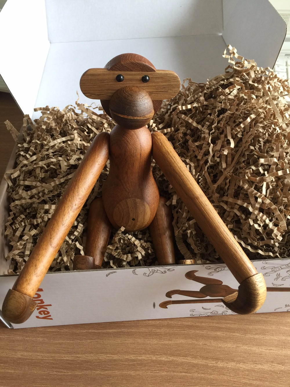 Monkey Year Danish Monkey Solid Wood Puppets Creative Design American Scandinavian Home Decoration
