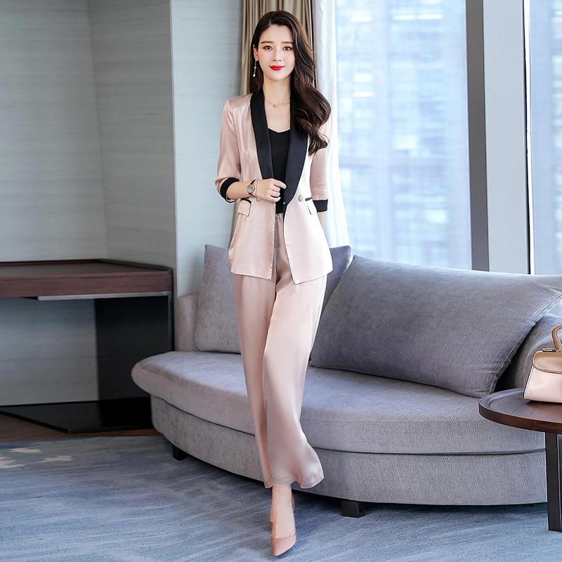 Women's Suits Are Now Popular New Women's Fashion Slim Suit Two-piece Suit (jacket + Pants) Women's Business Formal Wear