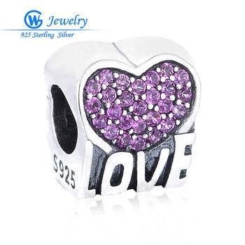 Joyería de plata de ley 925, amuleto púrpura, amuletos de amor Diy,...