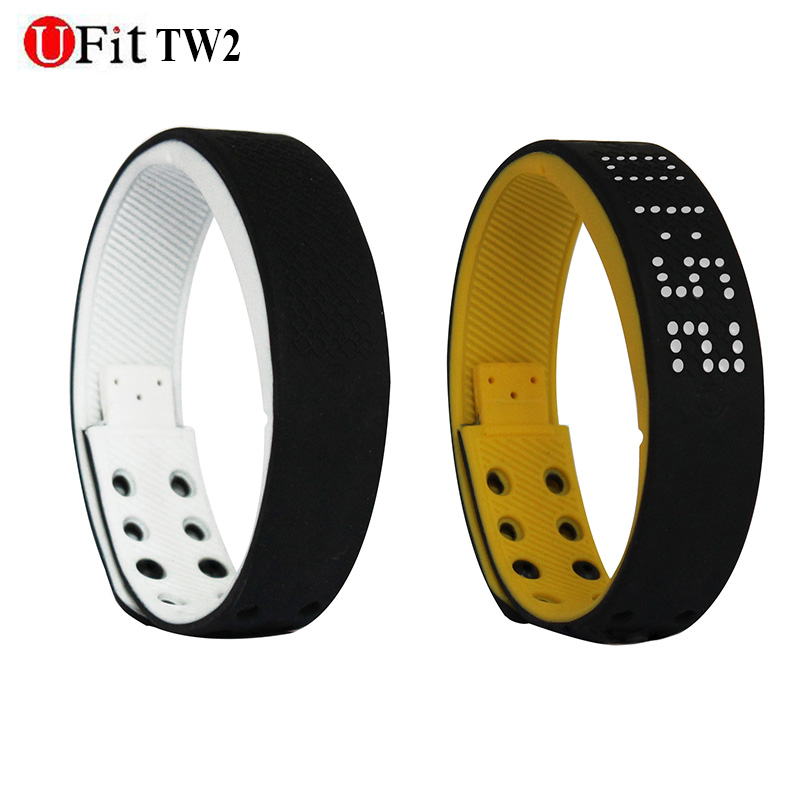 Ufit Original waterproof smart bracelet sport monitor time dispaly Fitness Tracker Android bracelet smartband ThermometerTrack