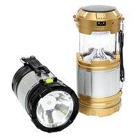 Hand Licht Lantaarn Draagbare Voor Wandelen Camper Tent Led Camping Light Inklapbare Emergency Lamp Lichtgewicht Zonne-energie