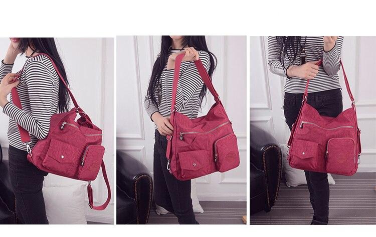 HTB1dbRgbErrK1RkSne1q6ArVVXaW Nylon Women Backpack Natural School Bags for Teenager Casual Female Preppy Style Shoulder Bags Mochila Travel Bookbag Knapsack