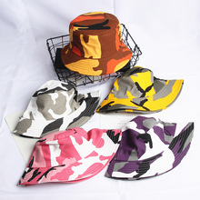 New Camouflage Cap Men Women bucket Hat Yellow Orange Gray Pink Purple Fishing Como 5 Colors