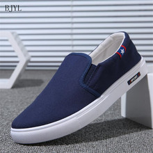 BJYL 2019 Summer New canvas shoes deodorant breathable mens tide non-slip male students casual men B80