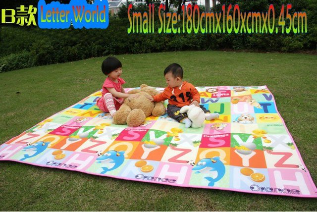 Free shipping 180cmx160cmx0.45cm (10 piece)Waterproof Camping Mats Picnic Blanket ,Baby Crawling Blanket , Beach mats, 4 style