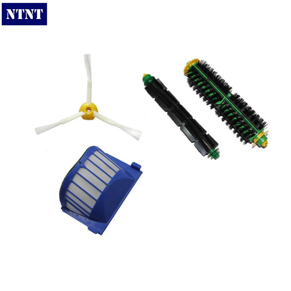 купить NTNT Free Post New AeroVac Filter + Brush 3 armed side kit for iRobot Roomba 500 Series 510 530 570 дешево