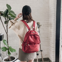 Bag female Oxford cloth backpack female Korean fashion 2019 new solid color backpack casual wild campus waterproof bag latue seed oxford cloth ladie backpack trend 2018 new wild fashion casual nylon solid black soft 904 641d b