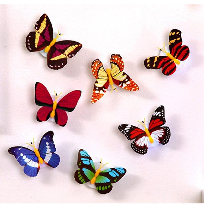 1 шт. Прекрасная бабочка светодиодный ночник Цвет свет лампы красивые дома декоративные настенные звездная ночь Цвет случайный распродажа