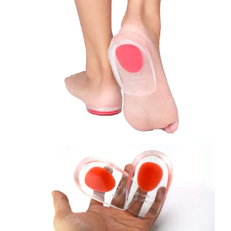 1 Pair Palmilha Silicone Gel orthopedic insoles Massag Cushion Foot Care pad for shoe pain relief Heel pillow Plantar Fasciitis