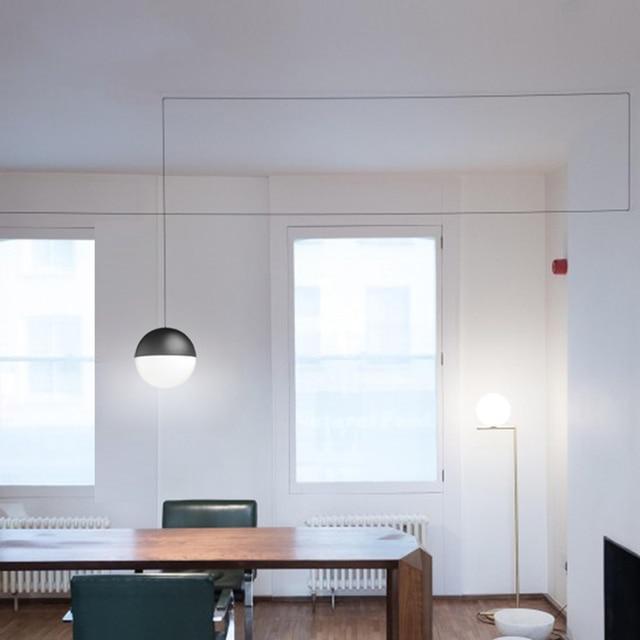 Nordic creativo linea led lampade a sospensione moderna fashion ...
