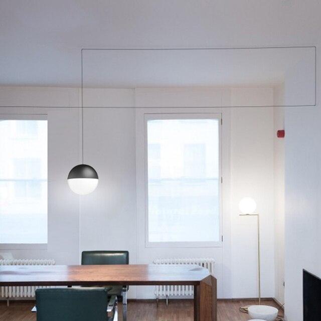 Nordic creativo linea led lampade a sospensione moderna fashion art ...