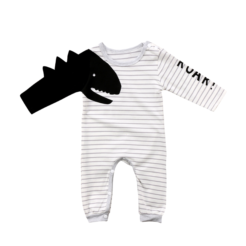 Boys' Baby Clothing Bodysuits & One-pieces Baby Girl Boy Long Sleeve Whale Printing Romper Jumpsuit Cute Animal Outfit Set Toddler Baby Boys Girls Autumn Clothing 0-24m Comfortable And Easy To Wear