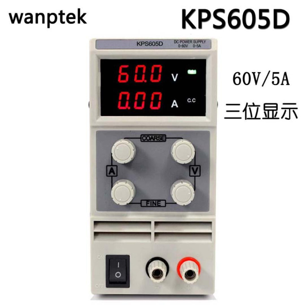 topMini laboratory power supply KPS605D 60V 5A Single phase adjustable SMPS Digital voltage regulator 0.1V 0.01A DC power supply rps6005c 2 dc power supply 4 digital display high precision dc voltage supply 60v 5a linear power supply maintenance