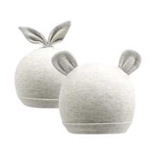 Cute Newborn Baby Beanie Hat Cotton Solid Boys Bear Rabbit Ears Infant Girls Spring Summer