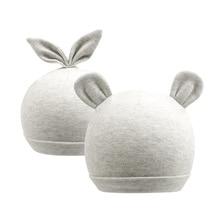 Cute Newborn Baby Beanie Hat Cotton Solid Boys Bear Rabbit Ears Infant Girls Spring Summer