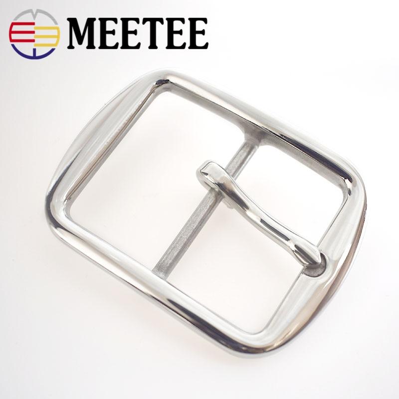 Meetee 40 мм * 52 мм из нержавеющей стали Мужчины pin пряжки для 39 мм широкий пояс Бизнес брюки пряжки ремня f1-36
