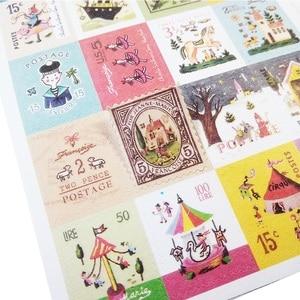 Image 4 - 30packs/lot Vintage Folding Briefmarken Aufkleber DIY Multifunktions aufkleber Romantische label home Dekoration Verschiedene stile großhandel