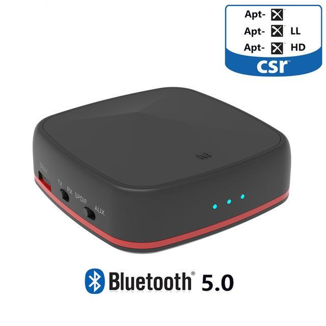Récepteur Audio sans fil bluetooth 5.0 CSR8675 récepteur Aptx HD avec adaptateur Toslink/SPDIF/AUX optique numérique