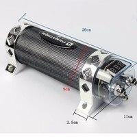 Audio Power Capacitor 3 Farad LED Light Car Stereo Auto Digital Voltage Meter Display Auto Refit