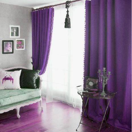 Aliexpress.com : Buy European Pure Purple Plain Fashion Blackout ...