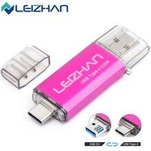 LEIZHAN סוג C USB דיסק און קי 256GB 128GB 64GB 32GB 16GB USB C תמונה מקל עבור HTC 10, huawei P20, סמסונג גלקסי S9, הערה 9, S8