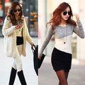 2015 Mujeres de La Moda de Invierno Vestido de Manga Larga de Punto Jumper Sweater Pullover Tops