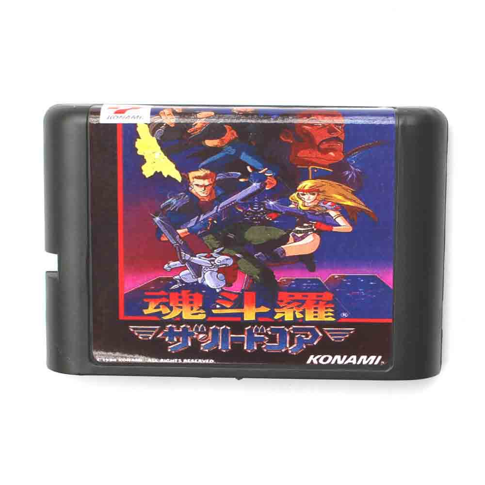 Contra Japanese Version 16 bit MD Game Card For Sega Mega Drive For Genesis image