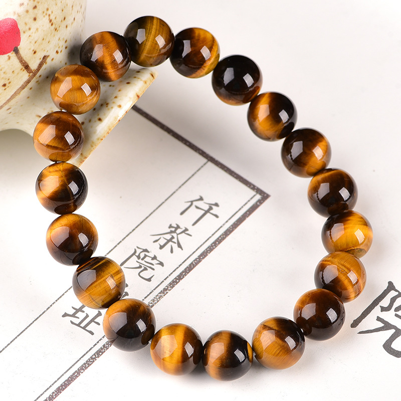 Minimalist 4mm 6mm 8mm 10mm Tiger eyes Beads Bracelet Men Charm Natural Stone Braslet For Man Handmade Casual Jewelry Pulseras 3
