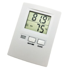 Indoor digital thermometer and hygrometer, monitoring warehouse cabinet electronic thermometer, hygrometer
