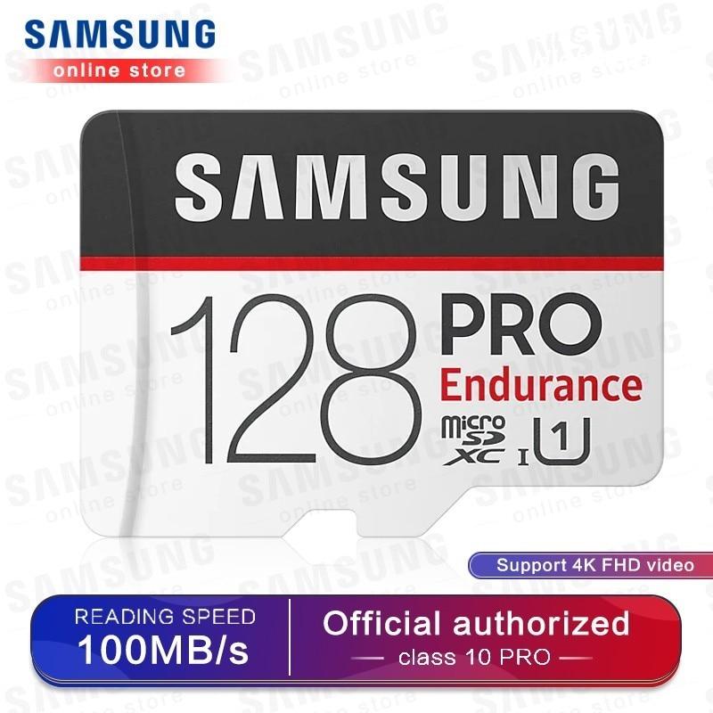 Samsung Memory Card Micro Sd Pro Endurance 100mbs 128gb 64gb 32gb Sdxc Sdhc Class 10 C10 Uhs-i Trans Flash Microsd  New