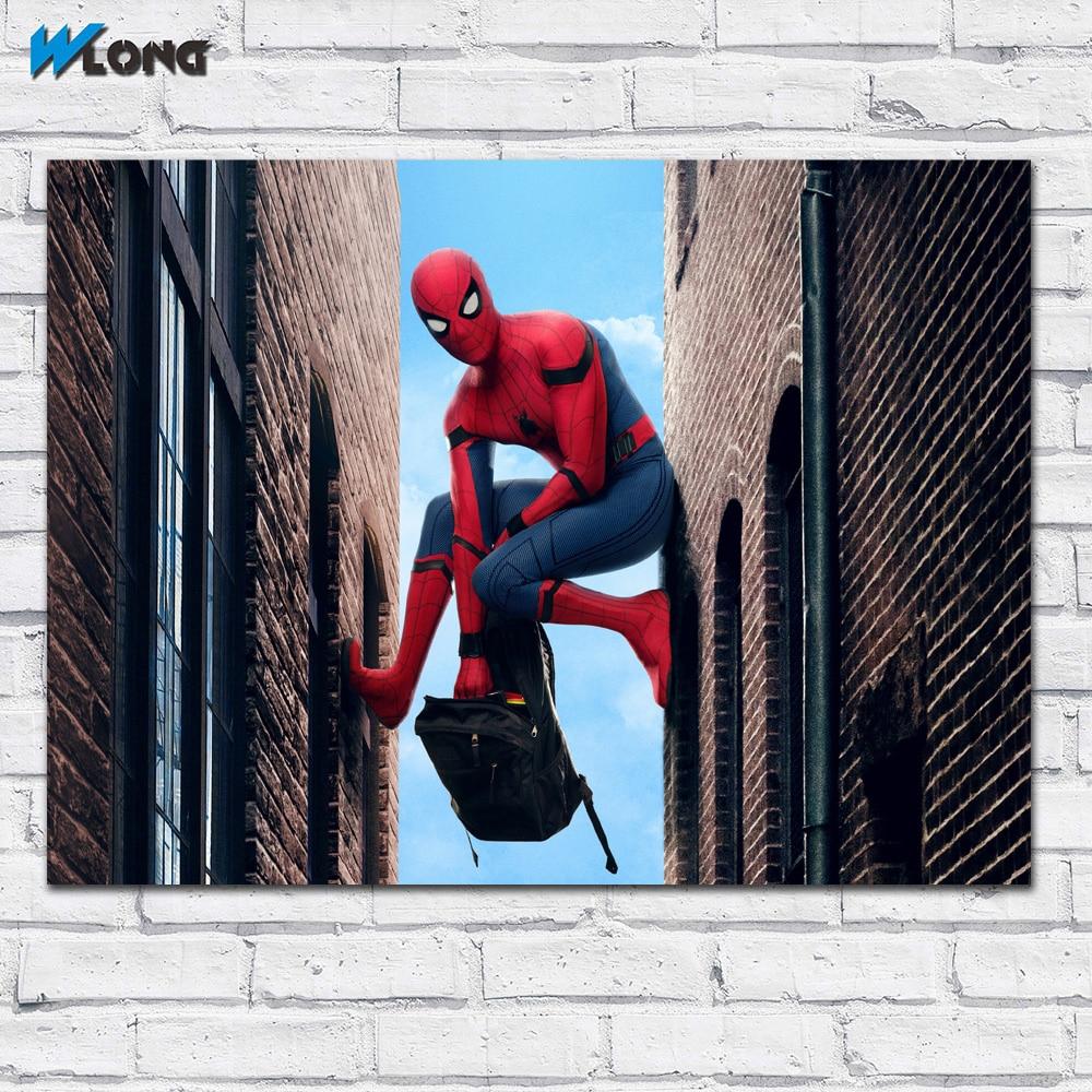 Большие размеры печать Homecoming героев комиксов Spiderman арт Домашний Декор Гостиная Современная печать холст Картины Нет кадров wlong